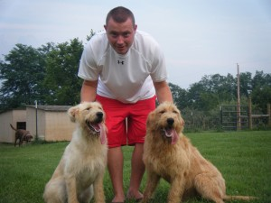 Lacey and Savannah (F1 Labradoodles, 10 months old here)